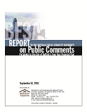Report to the Buffalo Fiscal Stability Authority on Public Comments Pertaining to the City of Buffalo's Four-Year Financial Plan