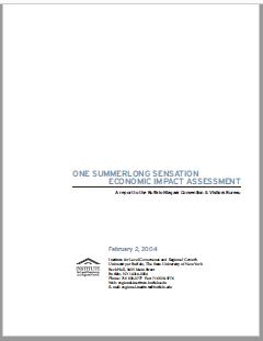 One Summerlong Sensation Economic Impact Assessment